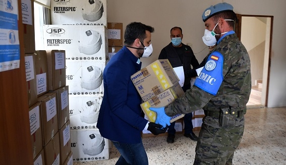 The supplies received included face protective masks, protective suits, hand disinfectant liquids, protection gloves, and others