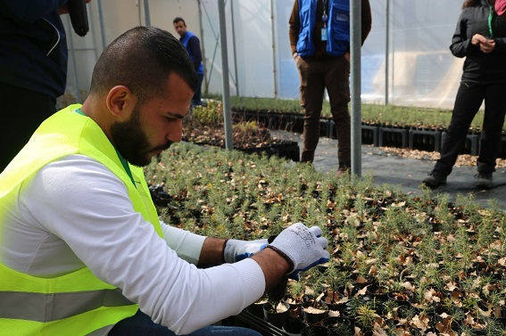One of the participants of the Ehden planting drive