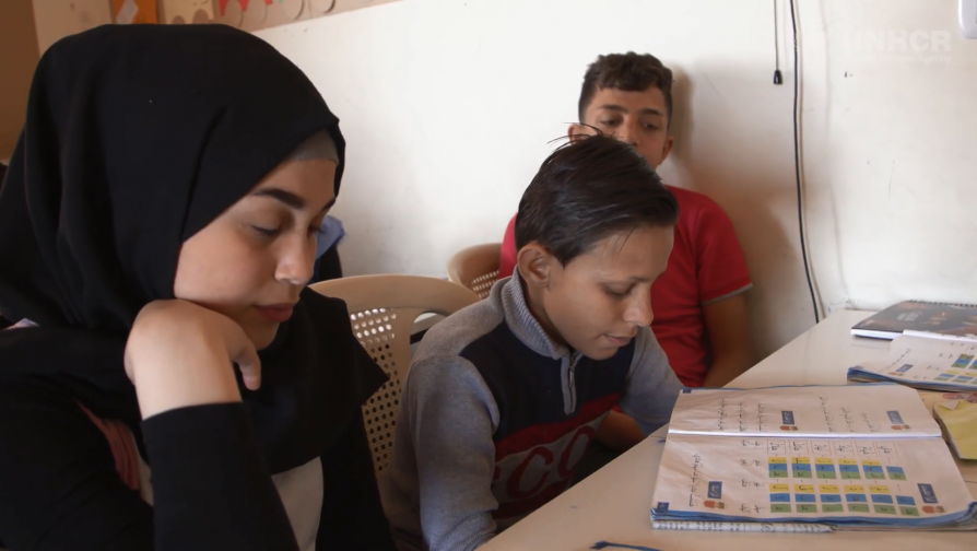 More than 150 refugees attend the center in the Ouzai neighbourhood of the Lebanese capital, run by the NGO Borderless