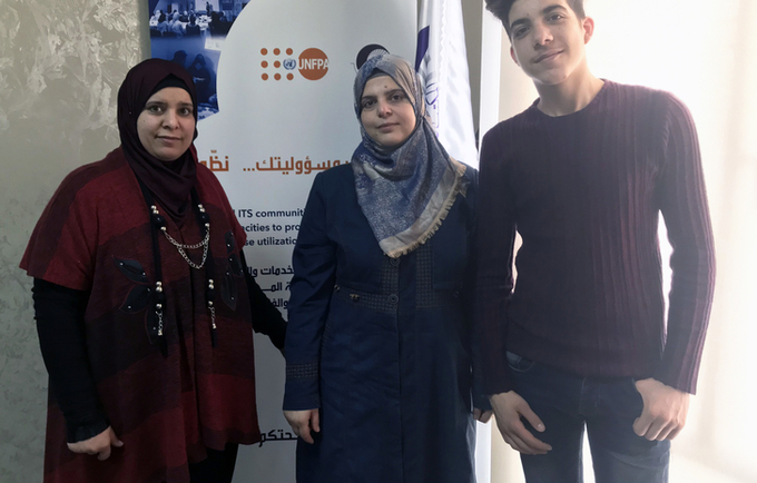 Zeina, Khouloud and Mohamad are a family of peer educators