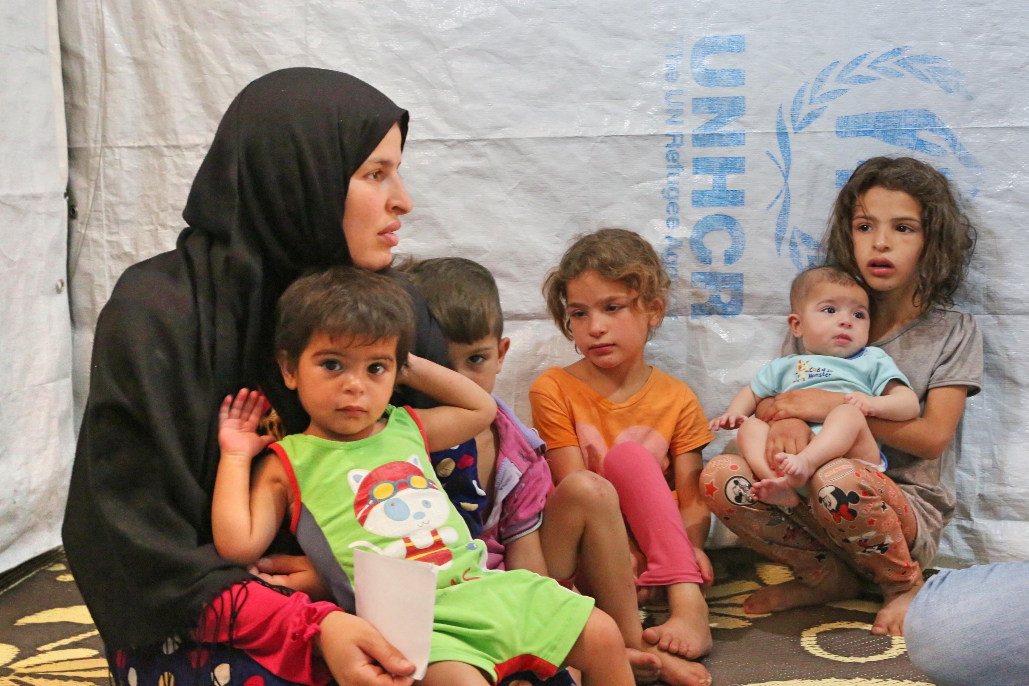 Fatima and five of her children