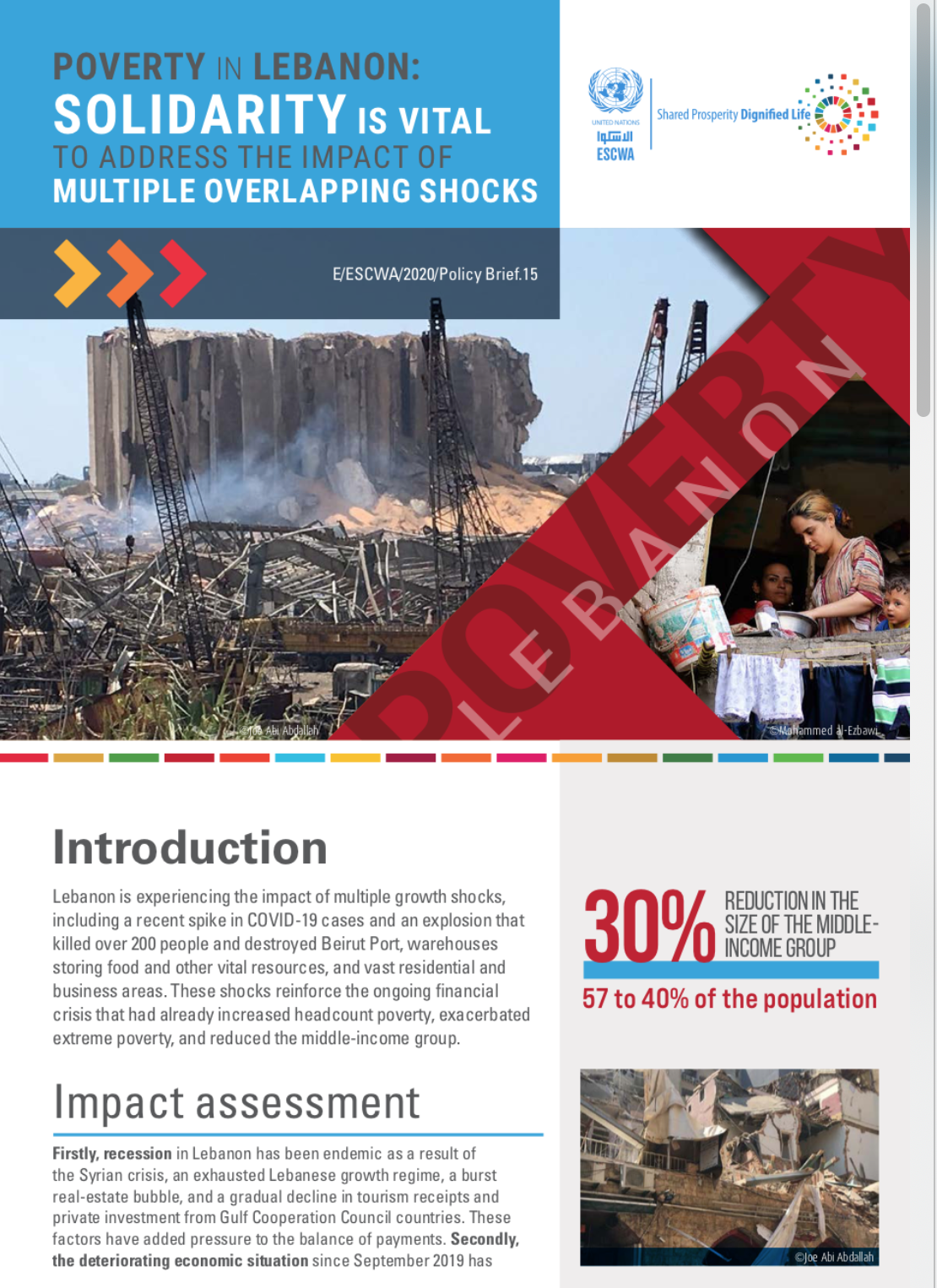 Poverty in Lebanon: Solidarity is vital to address the impact of multiple overlapping shocks