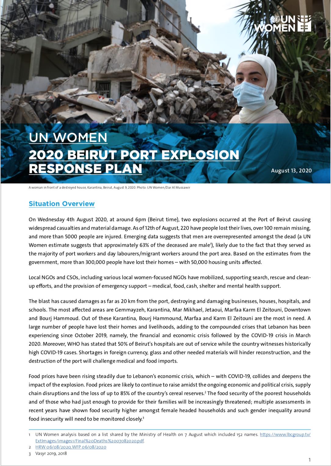 2020 Beirut Port Explosion Response Plan