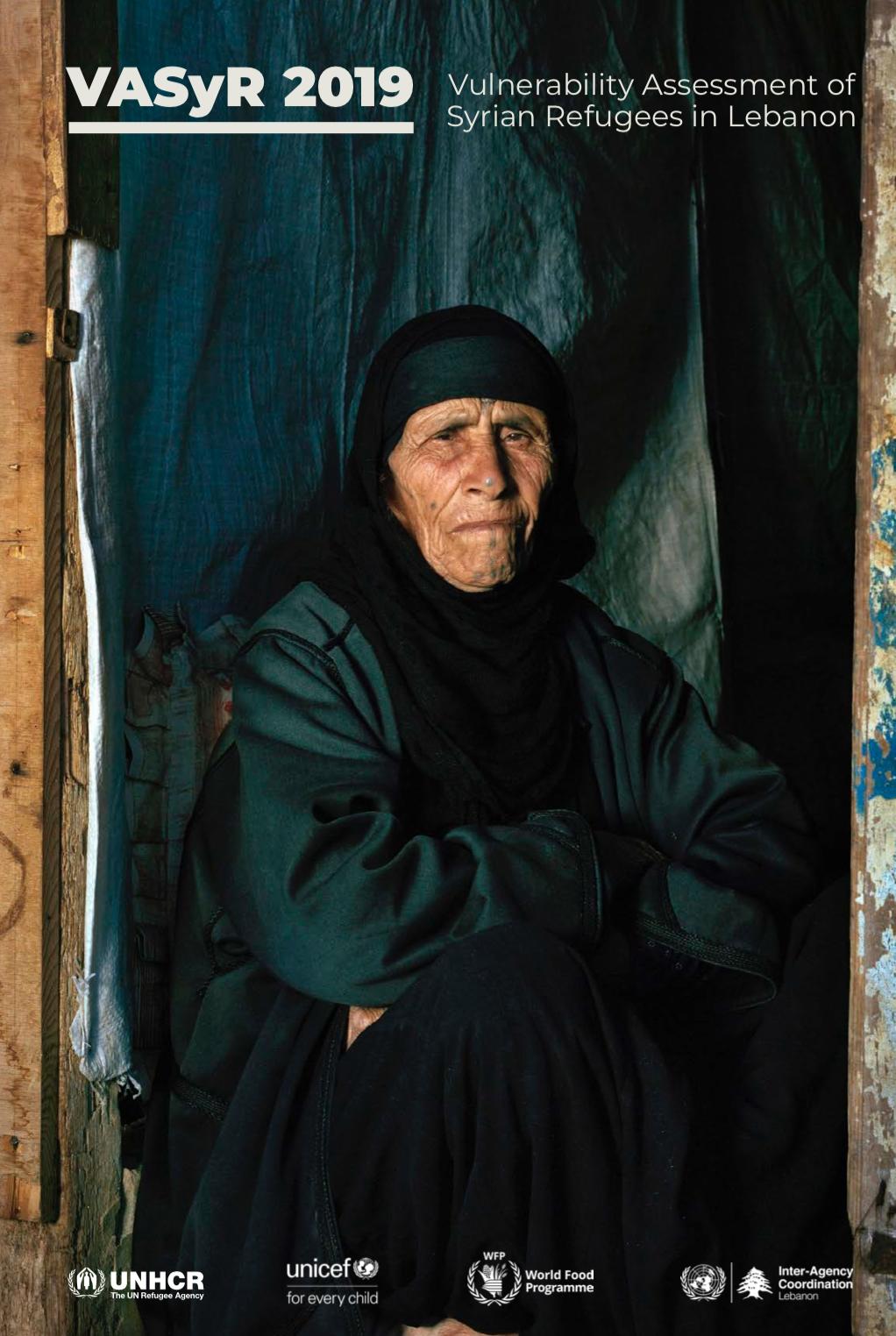 Vulnerability Assessment of Syrian Refugees in Lebanon (VASyR) 2019