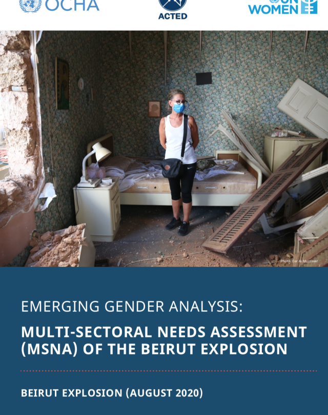 Emerging Gender Analysis: Multi-Sectoral Needs Assessment (Beirut Explosion)